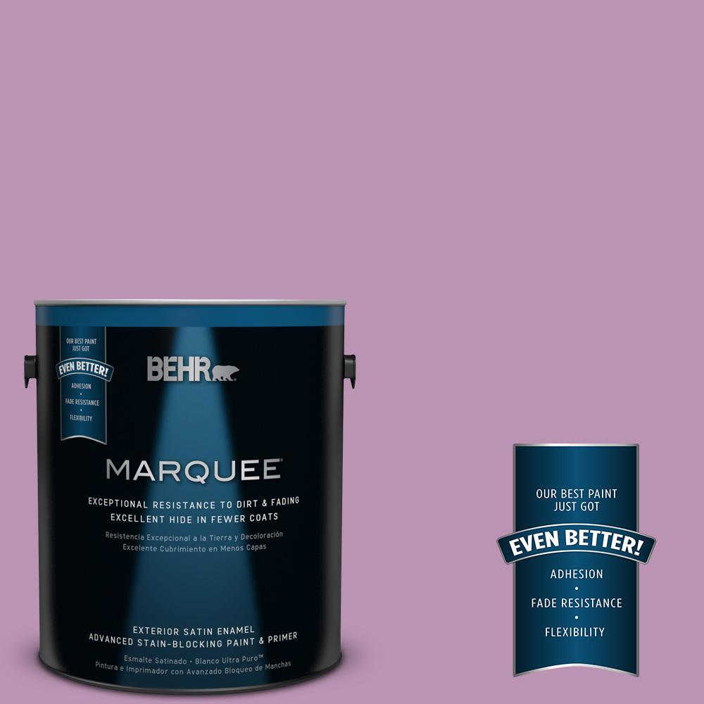 BEHR MARQUEE Home Decorators Collection 1-gal. #HDC-MD-10 Blooming Lilac Satin Enamel Exterior Paint