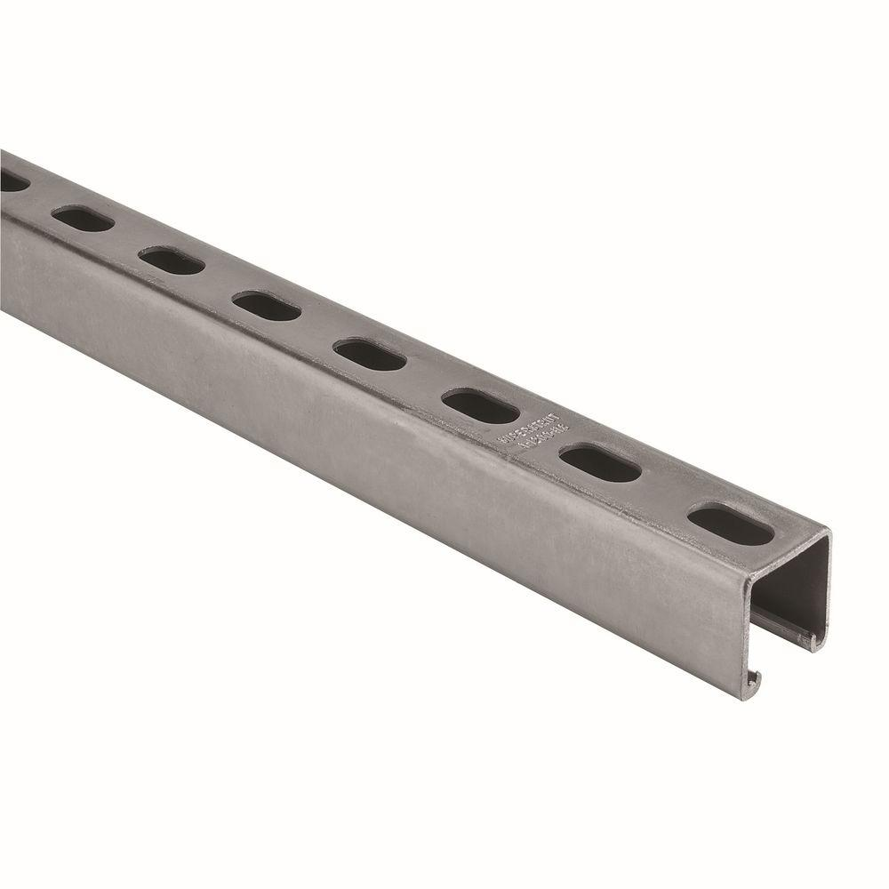 Superstrut 10 ft. 12-Gauge Half Slotted Metal Framing Strut Channel - Silver Galvanized