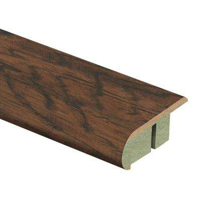 Coffee Handscraped Hickory 3/4 in. Thick x 2-1/8 in. Wide x 94 in. Length Laminate Stair Nose Molding