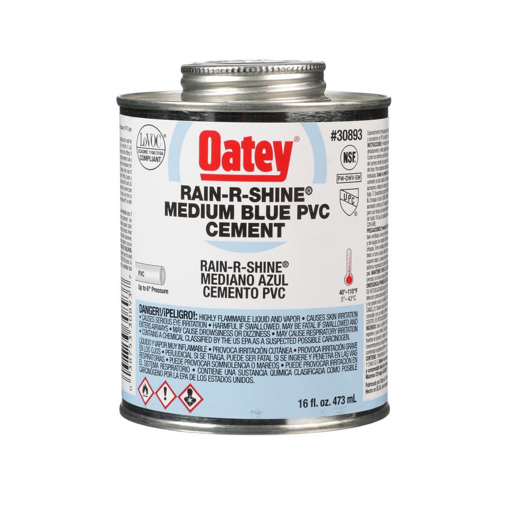 Rain-R-Shine 16 oz. Medium Blue PVC Pipe Cement