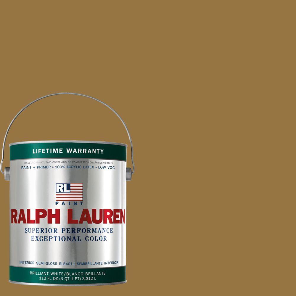 Ralph Lauren 1-gal. Fox Hall Gold Semi-Gloss Interior Paint