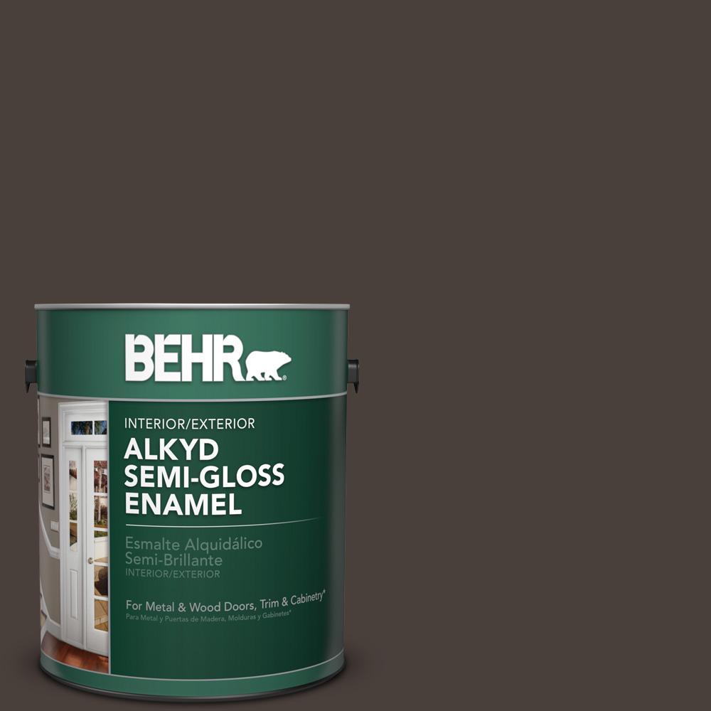 1 gal. #HDC-AC-26 Sarsaparilla Semi-Gloss Enamel Alkyd Interior/Exterior Paint