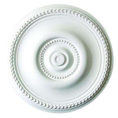 20-1/2 in. x 1-1/2 in. Running Rosette and Dots Polyurethane Ceiling Medallion