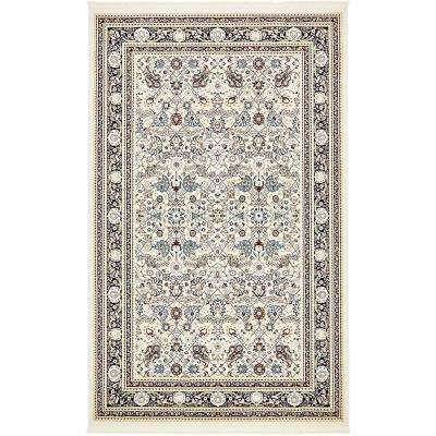 Bazaar Cream 5 ft. x 8 ft. Area Rug