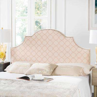 Hallmar Arched Pale Pink and Beige King Headboard