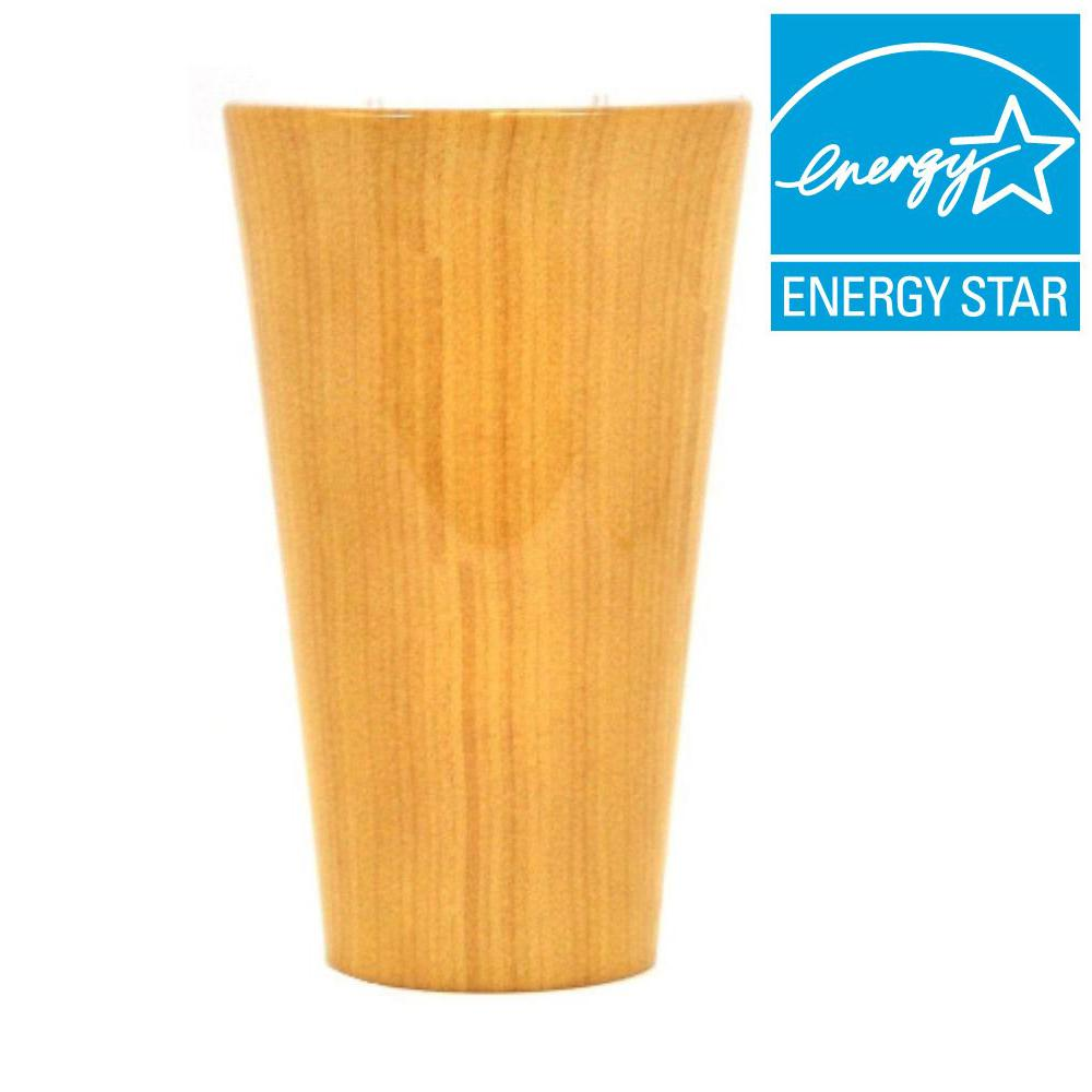 It's Exciting Lighting Vivid Series Pecanwood Style Indoor/Outdoor Battery Operated 5-LED Sconce