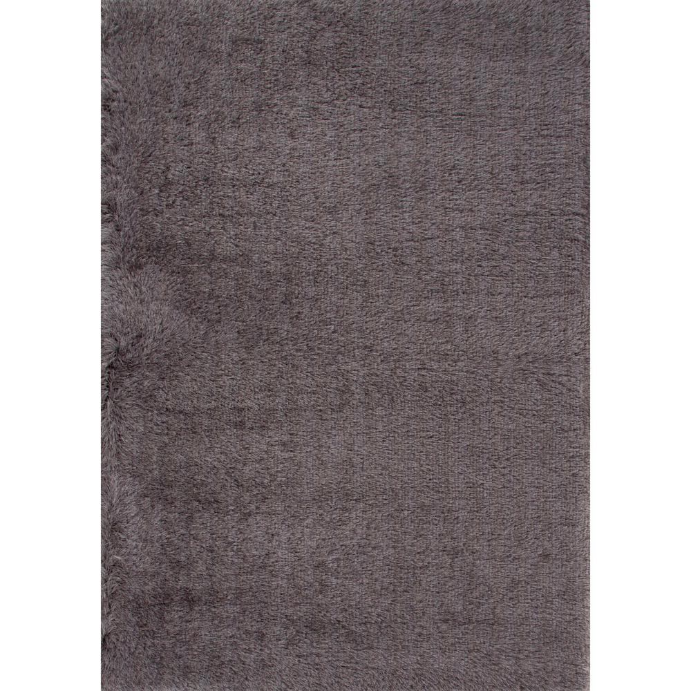 Shag Charcoal Gray 2 ft. x 3 ft. Solids Area Rug