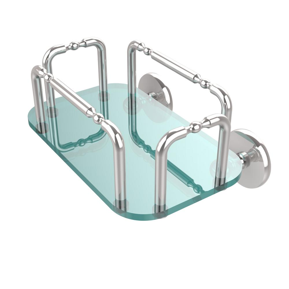 Skyline Wall Mounted Guest Towel Holder in Polished Chrome