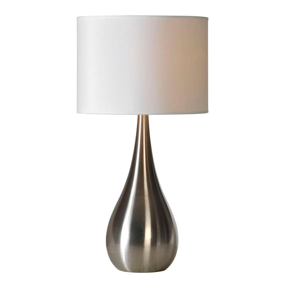 Illumine luna 26 in stainless steel table lamp cli df49528322 the stainless steel table lamp aloadofball Image collections