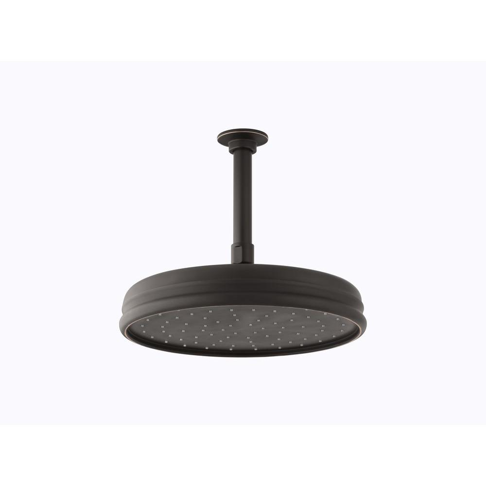 1-spray Single Function 10 in. Traditional Round Rain Showerhead with Katalyst