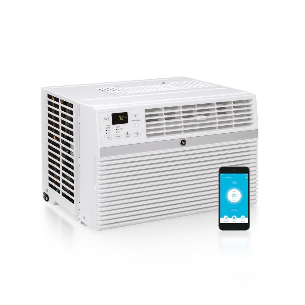 GE 18,000 BTU 230-Volt Smart Window Air Conditioner with Remote in on