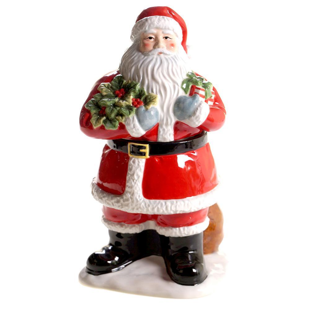 Vintage Santa Multi-Colored 11.75 in. 3-D Cookie Jar