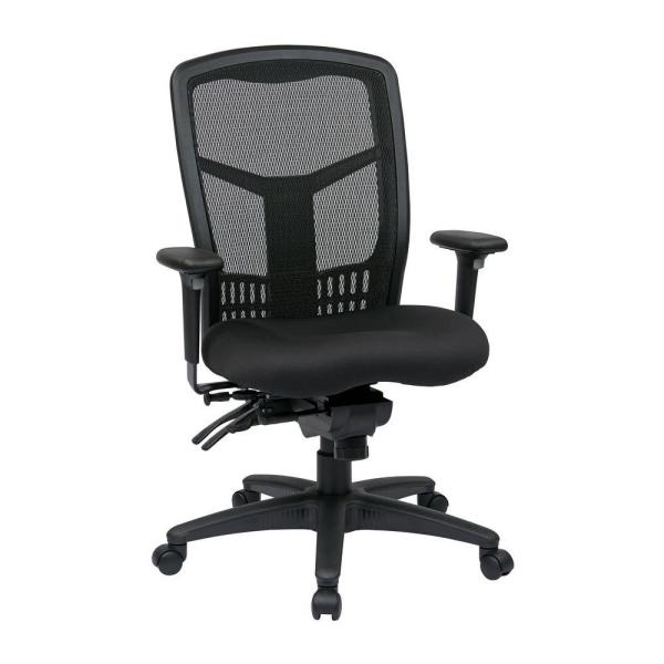 Office Star Products Black ProGrid High Back Manager Office Chair