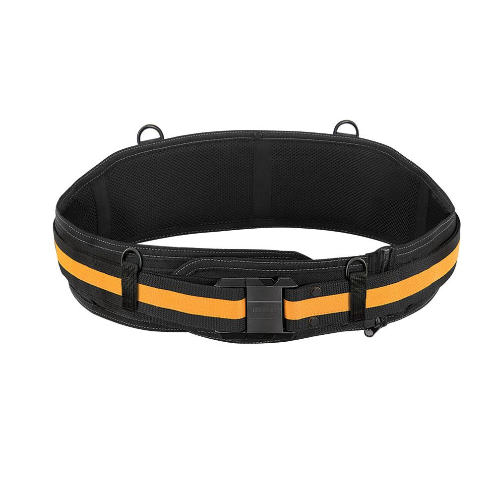 TOUGHBUILT 5.75 in. 0-Compartment Padded Belt Heavy Duty Buckle Back Support, Black