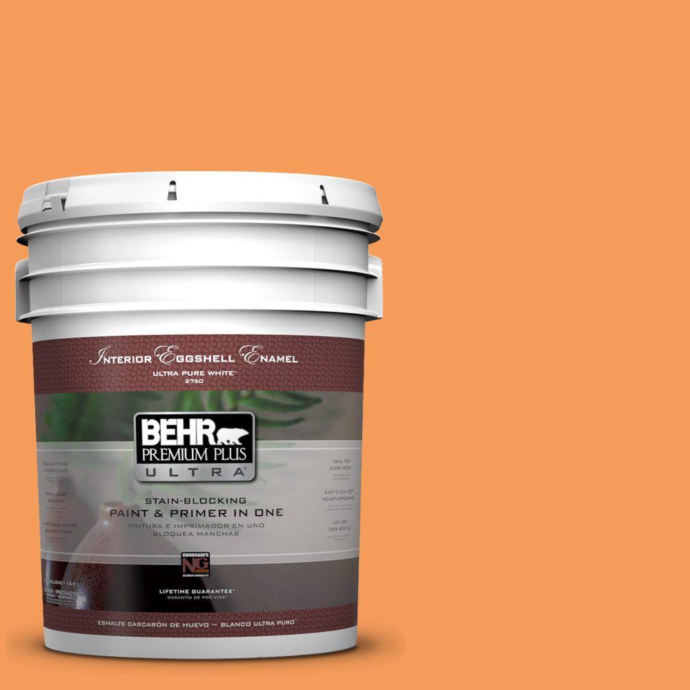 BEHR Premium Plus Ultra 5-gal. #P220-6 Bergamot Orange Eggshell Enamel Interior Paint