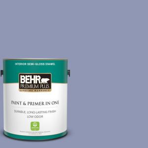 Behr Premium Plus 1 Gal S540 4 Vintage Ribbon Semi Gloss Enamel Low Odor Interior Paint And Primer In One 340001 The Home Depot
