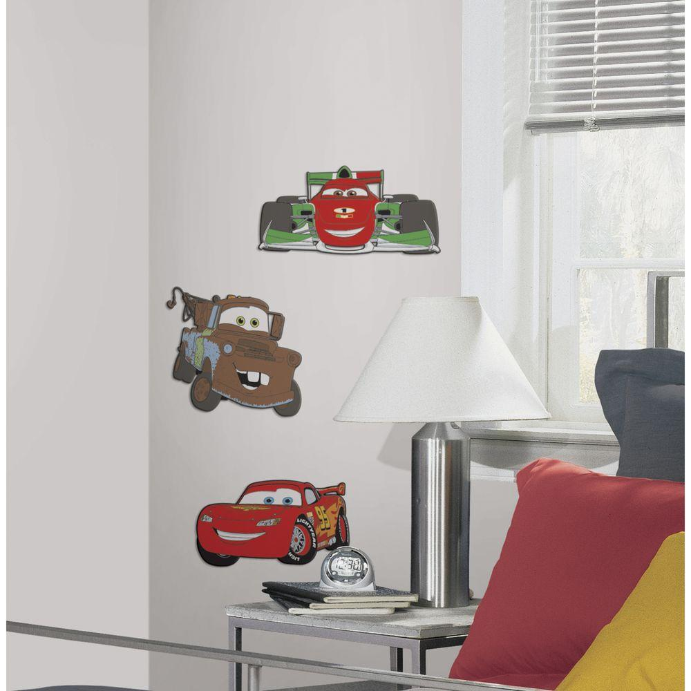 RoomMates Cars 3 Foam Characters Wall Applique