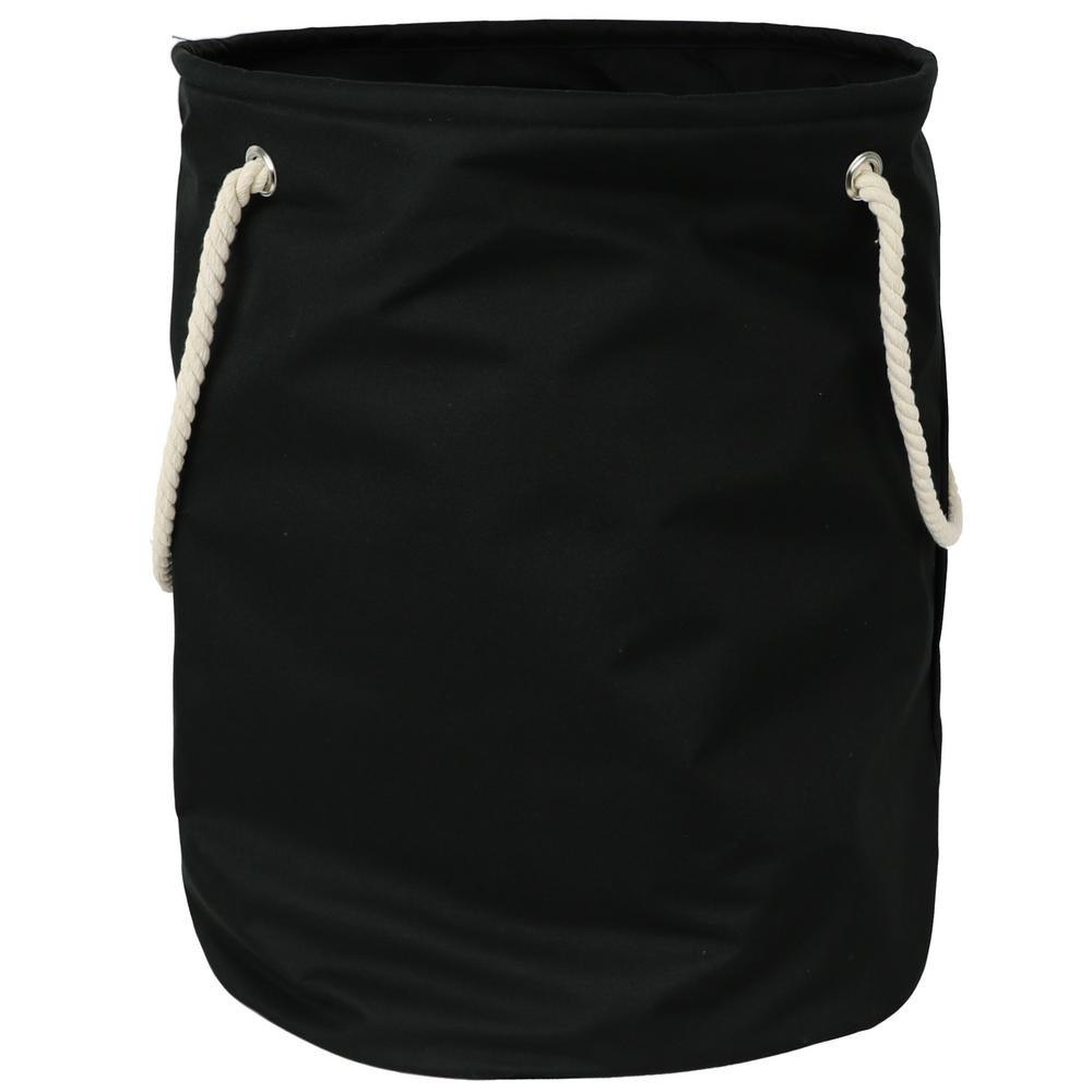 Smarty Pants Solid Black Polyester Standing Laundry Basket