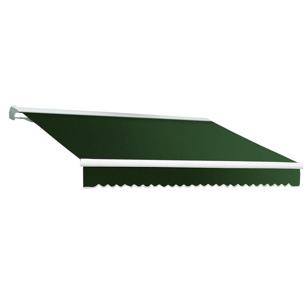 Beauty-Mark 8 ft. DESTIN EX Model Manual Retractable with Hood Awning (84 in. Projection) in Forest Green