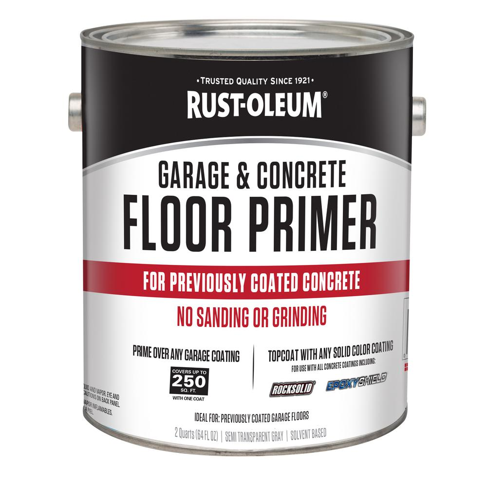 Rust Oleum 1 2 Gal Garage And Concrete Floor Primer Case Of 2 306196 The Home Depot
