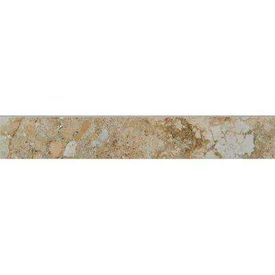 Venetia Noce 3 in. x 18 in. Porcelain Floor and Wall Bullnose Tile