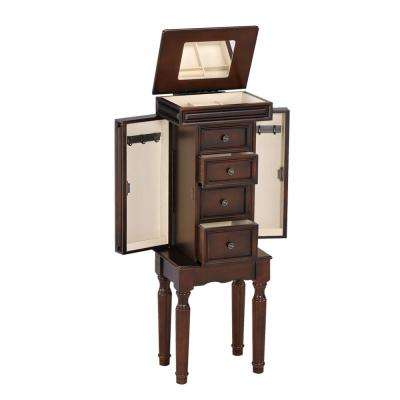 Depot Jewelry Armoire in Walnut