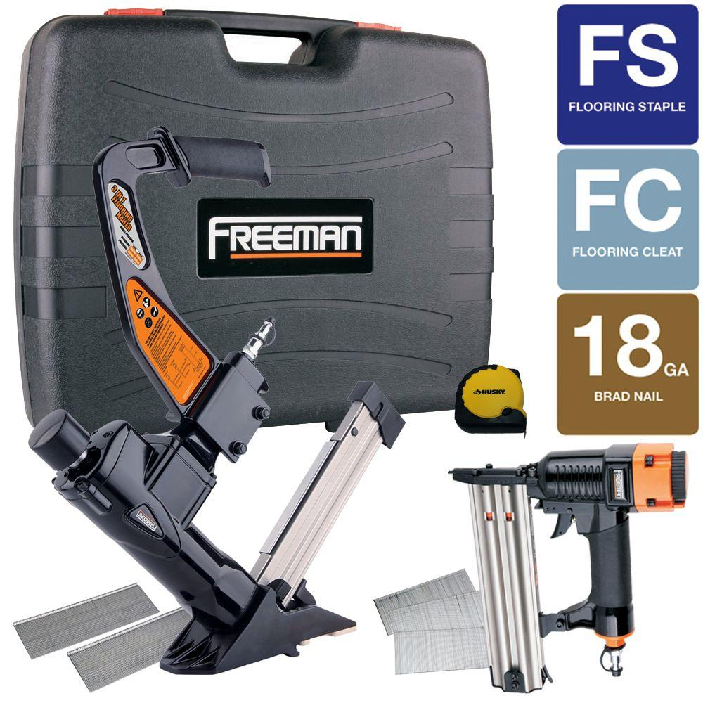 Freeman Reconditioned 16-Gauge 3-in-1 Flooring Nailer and 2 in. 18-Gauge Brad Nailer Combo Kit-DISCONTINUED