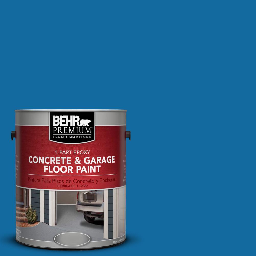 1 gal. #P500-7 Cosmic Cobalt 1-Part Epoxy Concrete and Garage Floor Paint