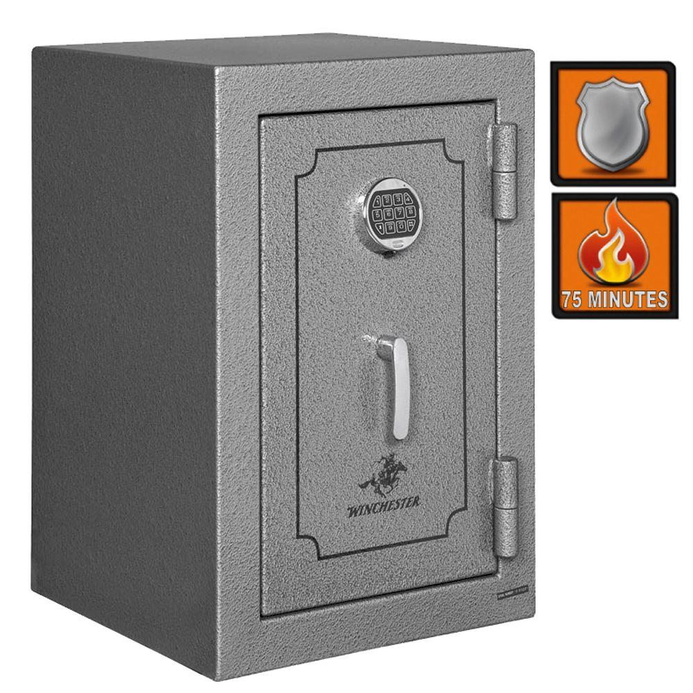 Winchester Safes Home and Office 7 Fire-Safe Electronic Lock 1 Storage Drawer Granite Gloss-DISCONTINUED