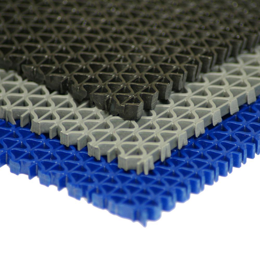 S-Grip Black 3/16 in. x 4 ft. x 10 ft. PVC Drainage Mat