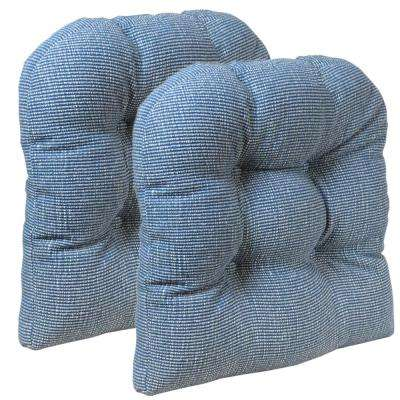Gripper Non-Slip 15 in. x 15 in. Saturn Wedge Tufted Universal Chair Cushions (Set of 2)