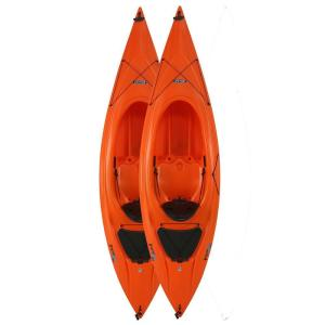 Click here to buy Lifetime 9 ft. 8 inch Orange Payette Kayak (2-Pack) by Lifetime.