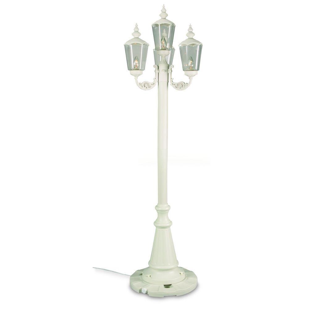 White Cambridge Park Lantern Patio Lamp