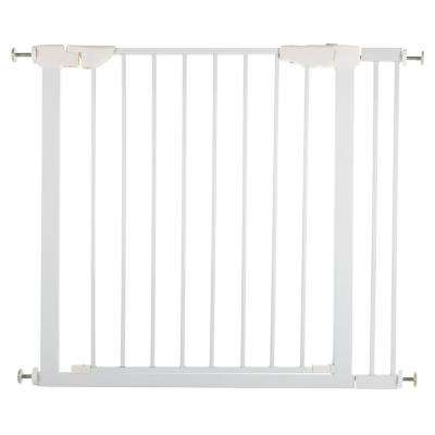 White Pressure Mount Walk-Through Pet Gate