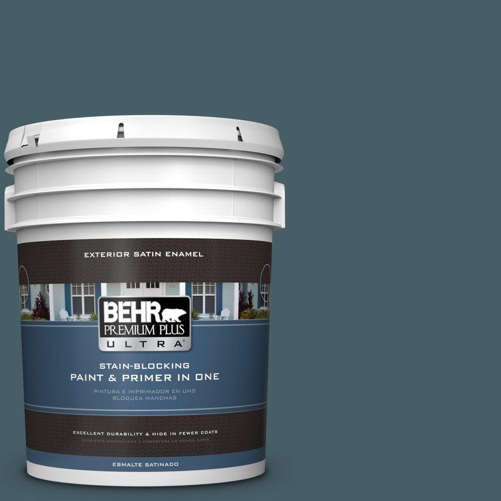 BEHR Premium Plus Ultra 5-gal. #PPU13-19 Observatory Satin Enamel Exterior Paint