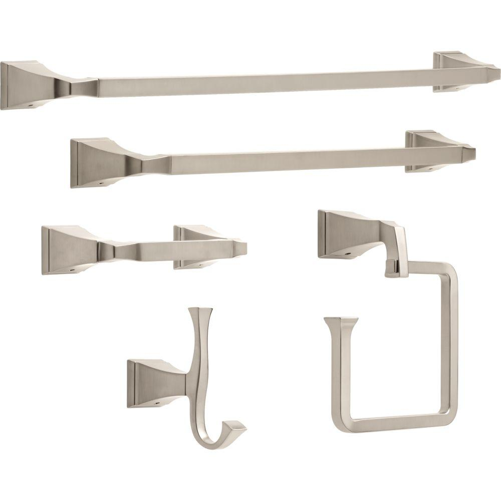 Delta Dryden 5 Piece Bath Hardware Set In Stainless Steel