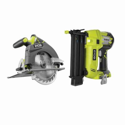 18-Volt ONE+ AirStrike 18-Gauge Cordless Brad Nailer with 18-Volt ONE+ Cordless 6-1/2 in. Circular Saw (Tools Only)