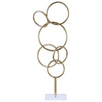 21.00 in. H Sculpture Decorative Sculpture in Gold Metallic