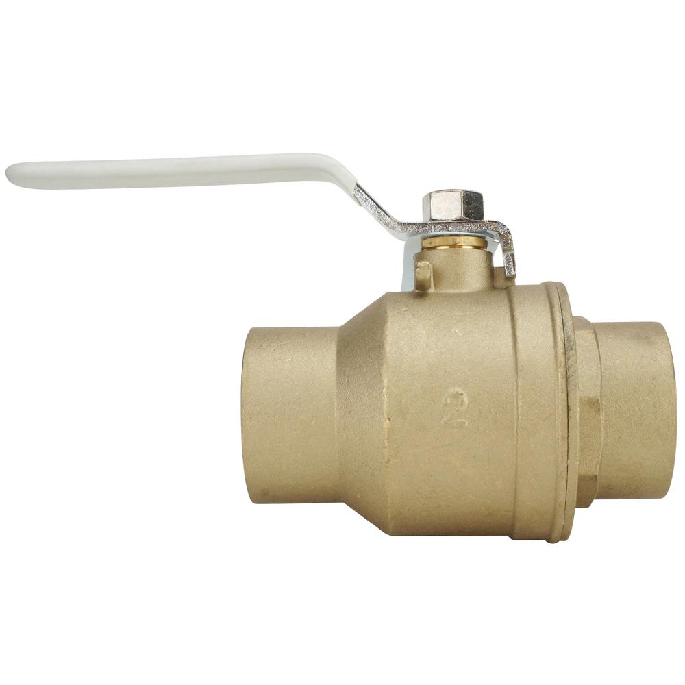 Briggs Stratton Inline Fuel Shut Off Valve 698183 The Home Depot Small Engine Filters Flow Of Direction 2 In Lead Free Brass Swt X Ball