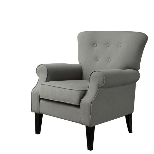 LOKATSE Industrial Gray Upholstery Arm Chair