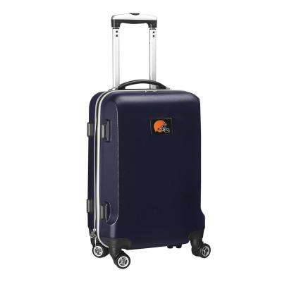NFL Cleveland Browns 21 in. Navy Carry-On Hardcase Spinner Suitcase