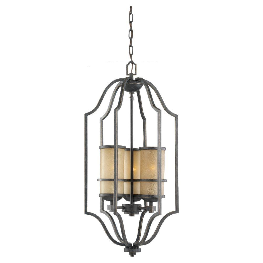 Sea Gull Lighting Roslyn 3-Light Flemish Bronze Hall/Foyer Pendant