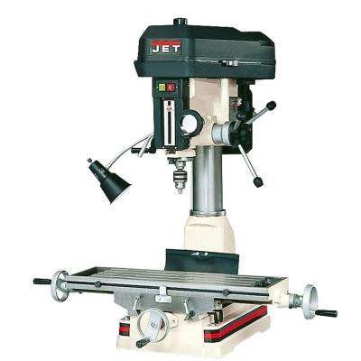 1 HP Milling/Drilling Machine with R8 Taper and Worklight, 12-Speed, 115-Volt, JMD-15