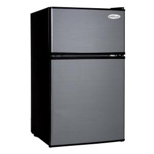 Click here to buy PREMIUM 3.1 cu. ft. Mini Refrigerator in Black with Stainless Steel Door by PREMIUM.