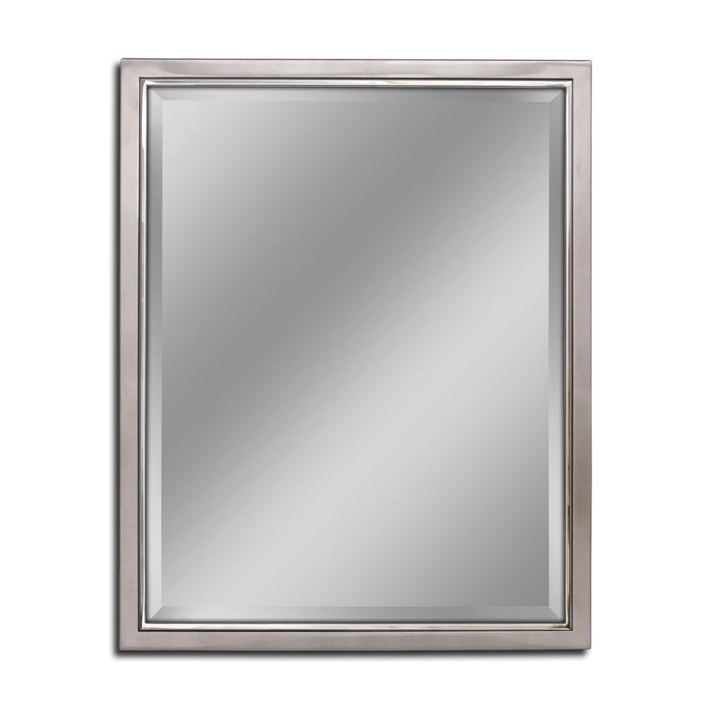 Deco mirror 24 in w x 30 in h classic metal framed wall for Metal frame mirror