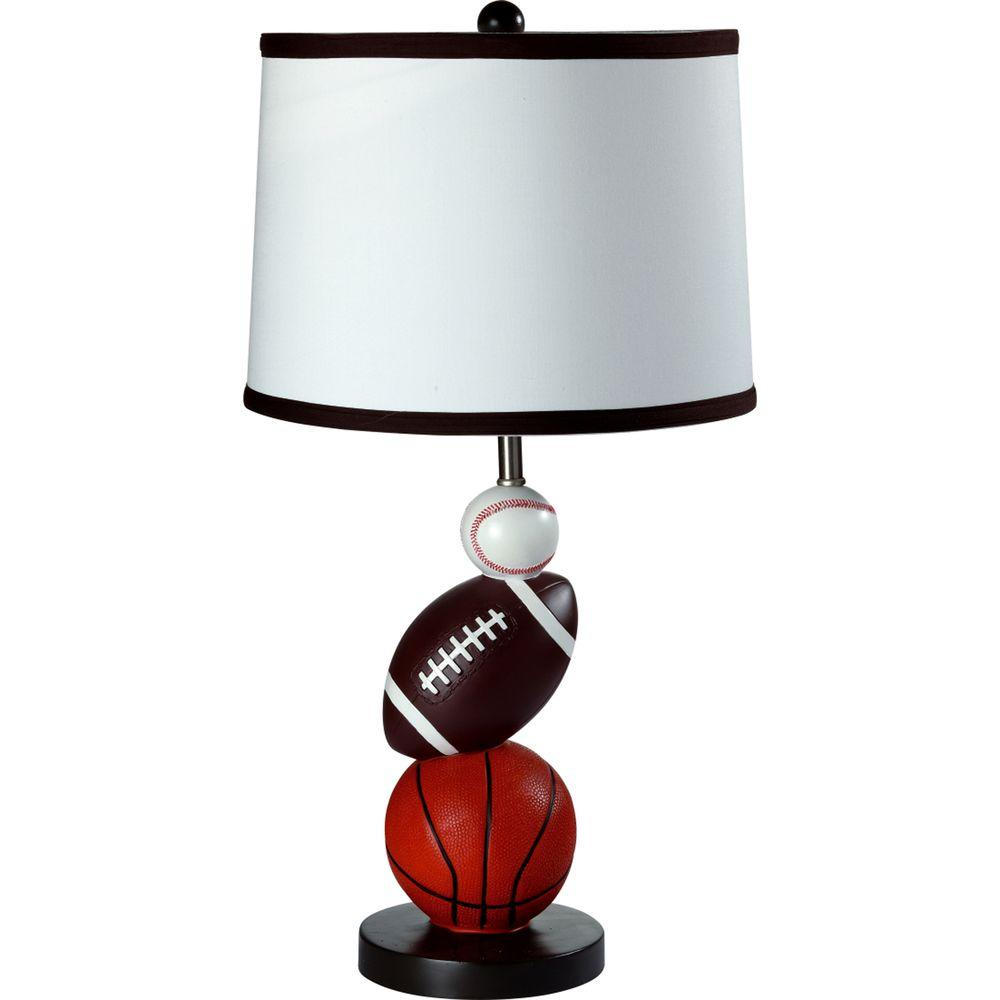 Ore international 25 in multi color sport table lamp 8604 the multi color sport table lamp mozeypictures Images