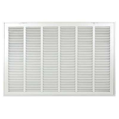 30 in. x 20 in. white return air filter grille is designed to cover rectangular duct opening