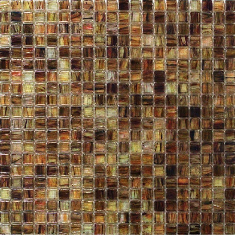 Breeze Organic Honey Stained Glass Mosaic Wall Tile - 3 in.