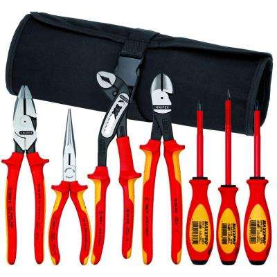 Pliers and Screwdriver Tool Set with Nylon Pouch (7-Piece)