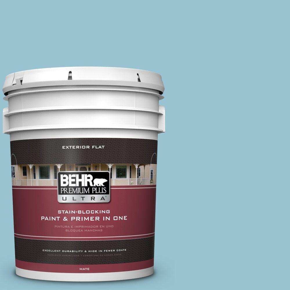 5-gal. #520E-3 Velvet Morning Flat Exterior Paint